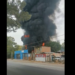 Fuerte incendio sobre la carretera a Rioverde